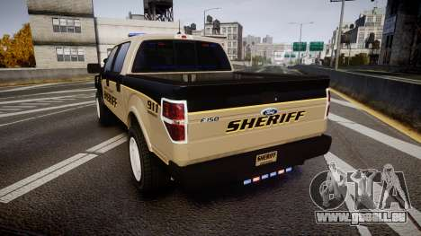 Ford F150 2010 Liberty County Sheriff [ELS] für GTA 4 hinten links Ansicht