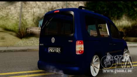 Volkswagen Caddy v1 pour GTA San Andreas laissé vue