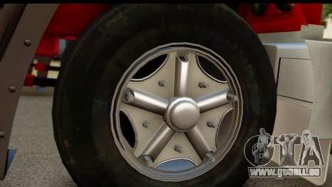 Mack Superliner 6x4 für GTA San Andreas zurück linke Ansicht