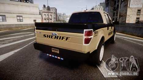 Ford F150 Liberty County Sheriff [ELS] Slicktop für GTA 4 hinten links Ansicht