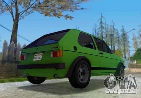 Volkswagen Golf GTD Mk1 für GTA San Andreas zurück linke Ansicht