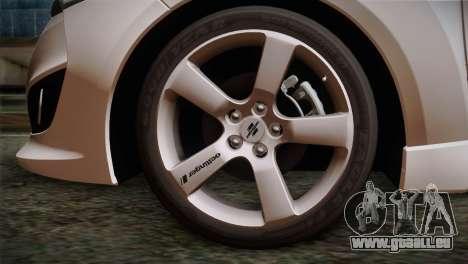Hyundai Veloster 2012 Autovista pour GTA San Andreas sur la vue arrière gauche
