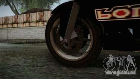 GTA 5 Bati Police pour GTA San Andreas sur la vue arrière gauche