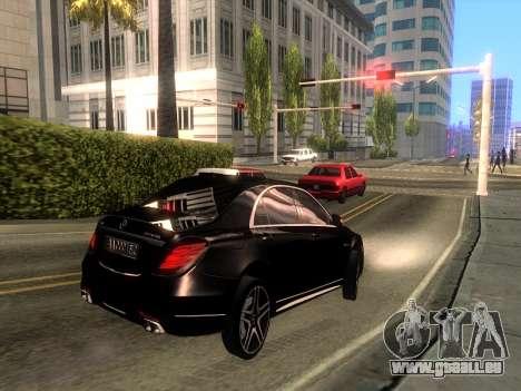 Mercedes-Benz Long S65 W222  Black loaf für GTA San Andreas zurück linke Ansicht