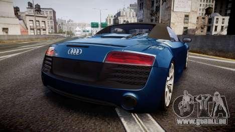 Audi R8 Spyder 2014 [EPM] pour GTA 4 Vue arrière de la gauche