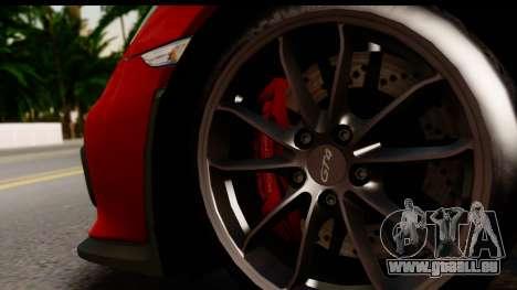 Porsche Cayman GT4 981c 2016 EU Plate für GTA San Andreas Rückansicht