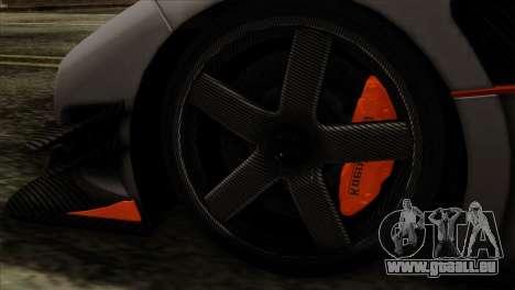 Koenigsegg One 1 für GTA San Andreas zurück linke Ansicht