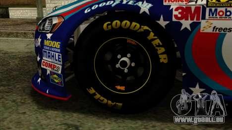 NASCAR Ford Fusion 2013 pour GTA San Andreas sur la vue arrière gauche