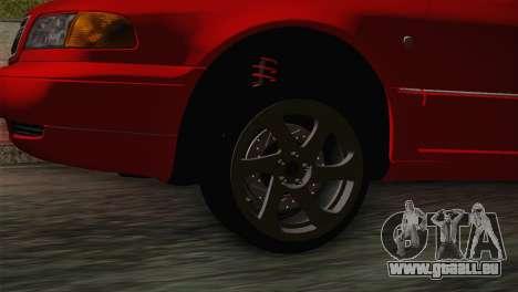 Audi A8 2000 pour GTA San Andreas sur la vue arrière gauche