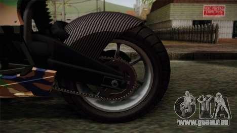 GTA 5 Bati MIX pour GTA San Andreas sur la vue arrière gauche