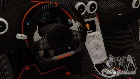 Koenigsegg One 1 für GTA San Andreas Rückansicht