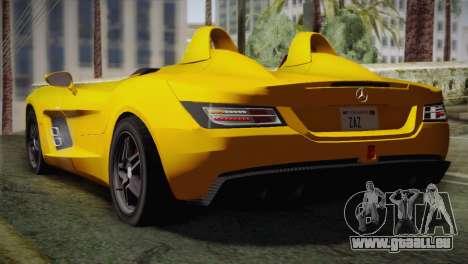 Mercedes-Benz SLR McLaren Stirling Moss pour GTA San Andreas laissé vue