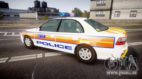 Vauxhall Omega Metropolitan Police [ELS] für GTA 4 linke Ansicht