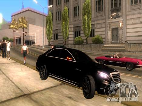 Mercedes-Benz Long S65 W222  Black loaf für GTA San Andreas rechten Ansicht