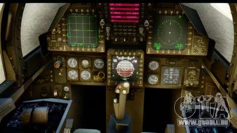 F-15J Mitsubishi Heavy Industries für GTA San Andreas Rückansicht