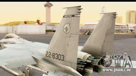 F-15DJ Mitsubishi Heavy Industries für GTA San Andreas zurück linke Ansicht