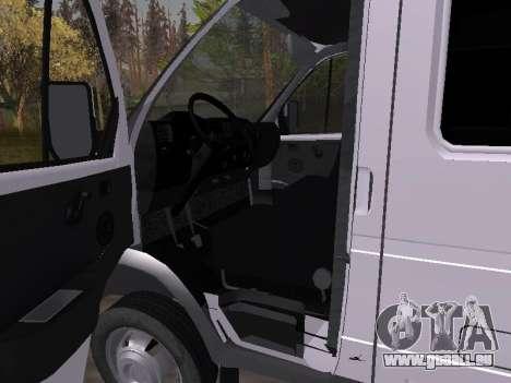 GAZ 2705 für GTA San Andreas Rückansicht