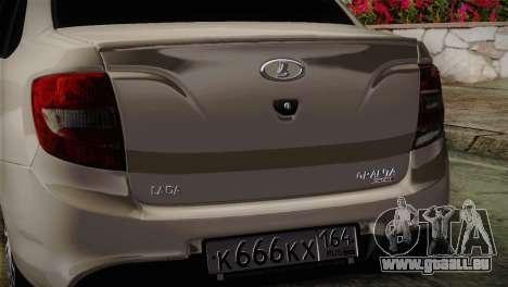 Lada Granta Sport pour GTA San Andreas vue de droite