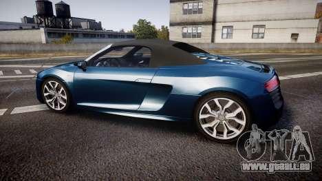 Audi R8 Spyder 2014 [EPM] pour GTA 4 est une gauche