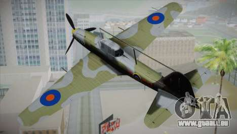 ИЛ-10 de la Royal Air Force pour GTA San Andreas laissé vue