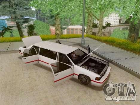 Elegant Limousine pour GTA San Andreas vue de droite
