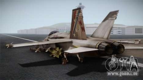 F-18 Hornet (Battlefield 2) pour GTA San Andreas laissé vue