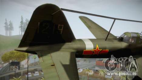 ИЛ-10 Chinois de la Force Aérienne pour GTA San Andreas sur la vue arrière gauche