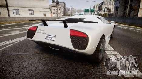 Pegassi Infernus pour GTA 4 Vue arrière de la gauche