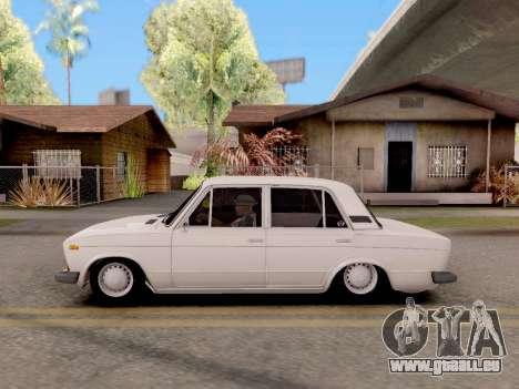 VAZ 2106 Classique pour GTA San Andreas sur la vue arrière gauche