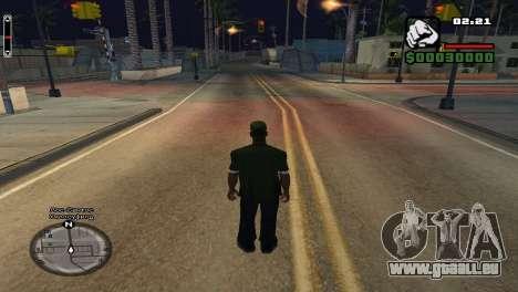 Les noms de rue sur le radar pour GTA San Andreas deuxième écran