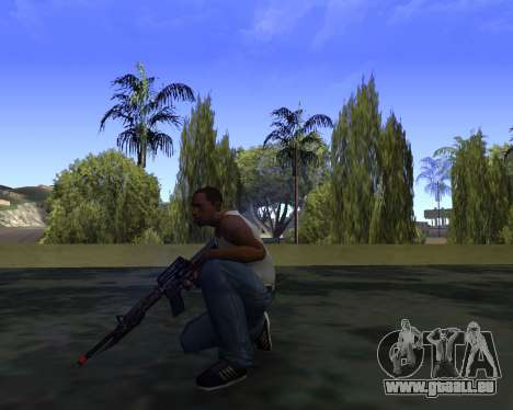 M4A1 Cross Fire für GTA San Andreas dritten Screenshot