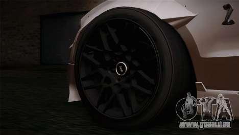 Ford Shelby GT500 RocketBunny SVT Wheels pour GTA San Andreas sur la vue arrière gauche
