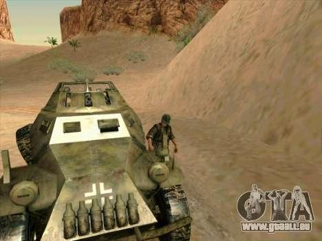 SdKfz.222 pour GTA San Andreas vue de côté