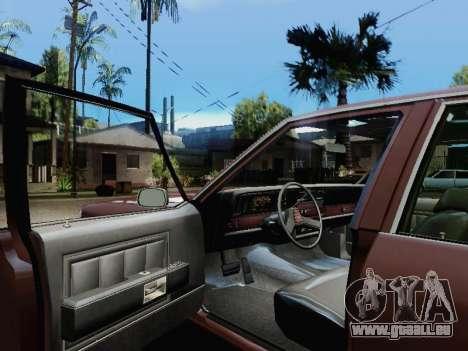 Chevrolet Caprice 1987 pour GTA San Andreas sur la vue arrière gauche