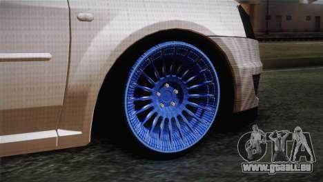 Dacia Logan Most Wanted Edition v3 pour GTA San Andreas sur la vue arrière gauche