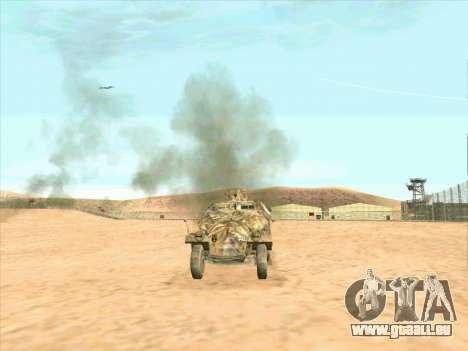 Sd Kfz 251 Camouflage Desert pour GTA San Andreas sur la vue arrière gauche