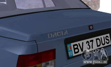 Dacia Super Nova pour GTA San Andreas vue de dessous