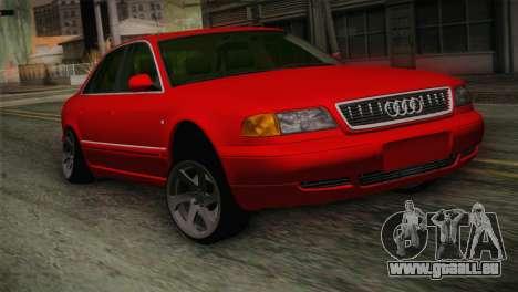 Audi A8 2000 pour GTA San Andreas vue arrière