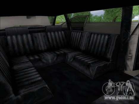 Elegant Limousine pour GTA San Andreas vue arrière