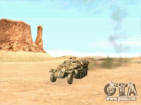 Sd Kfz 251 Camouflage Desert pour GTA San Andreas vue de droite