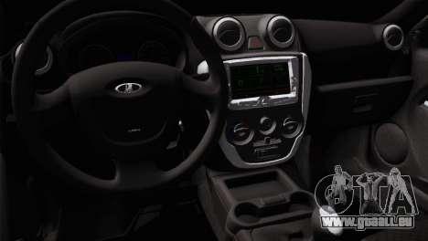 Lada Granta Sport pour GTA San Andreas vue arrière