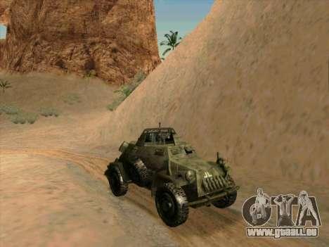 SdKfz.222 pour GTA San Andreas sur la vue arrière gauche
