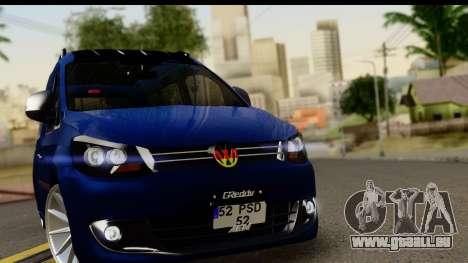 Volkswagen Caddy v1 pour GTA San Andreas sur la vue arrière gauche