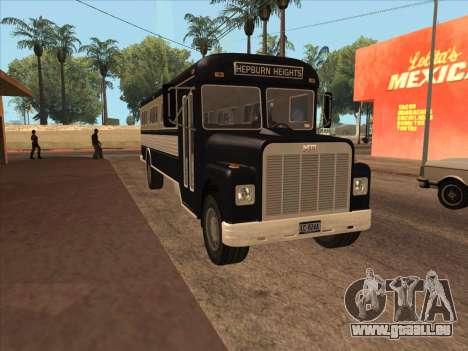 Bus из de GTA 3 pour GTA San Andreas laissé vue