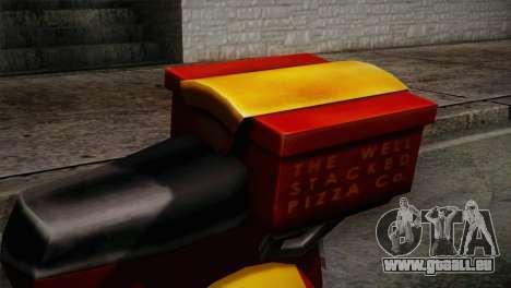 Original Pizzaboy IVF pour GTA San Andreas vue arrière