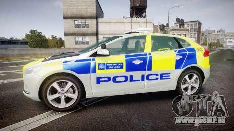 Volvo V40 Metropolitan Police [ELS] für GTA 4 linke Ansicht