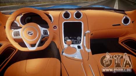 Dodge Viper SRT 2013 rims2 pour GTA 4 Vue arrière