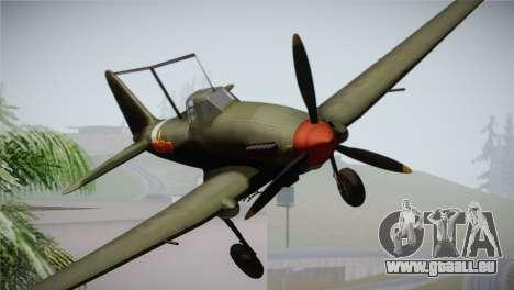 ИЛ-10 Chinese Air Force für GTA San Andreas Rückansicht