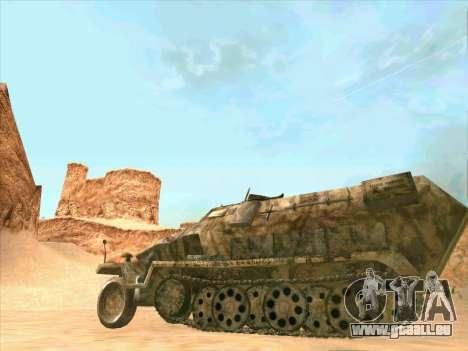 Sd Kfz 251 Camouflage Desert pour GTA San Andreas vue arrière