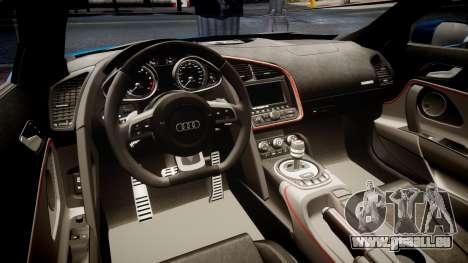 Audi R8 Spyder 2014 [EPM] pour GTA 4 est une vue de l'intérieur